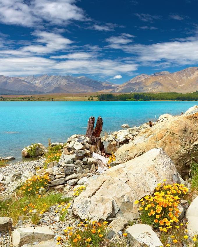 Новая Зеландия  озеро Tekapo