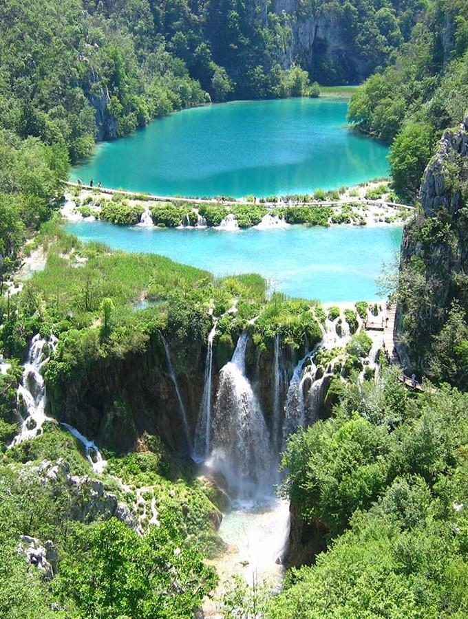 Хорватия. нацпарк-Плитвицкие-озера-